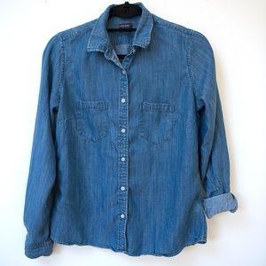 UNTUCKit Women's Denim Shirt size 6